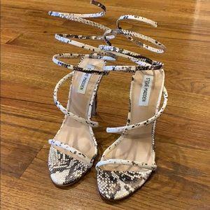 Snakeskin Ankle Sandals